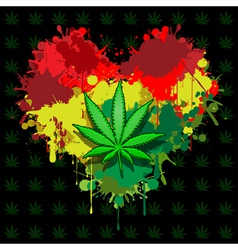 Love marijuana vector