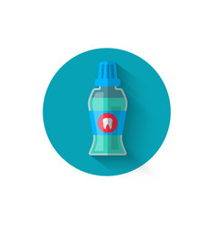 mouthwash icon in a flat style design vector image vector image