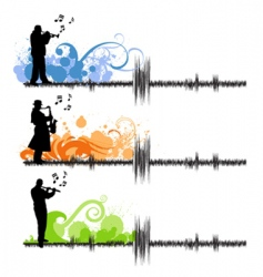 music players vector image vector image