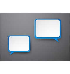 Paper white-blue speech bubbles vector image