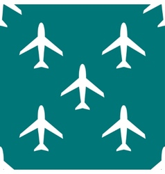 Plane web icon flat design seamless pattern vector