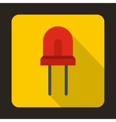 Red halogen lamp icon flat style vector image vector image