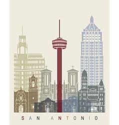 San antonio skyline poster vector