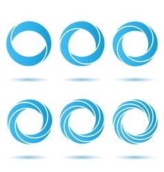 Segmented o letter set vector