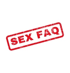 Sex faq rubber stamp vector
