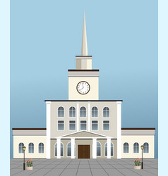 train station building vector image