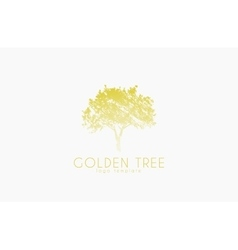 Tree logo Golden tree Nature logo design vector image