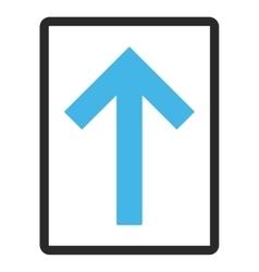 Up arrow framed icon vector