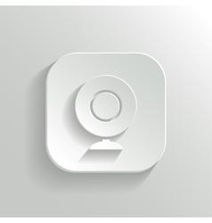 Webcamera icon - white app button vector image vector image
