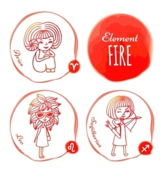 Zodiac element fire vector image