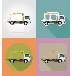 transport flat icons 21 vector image