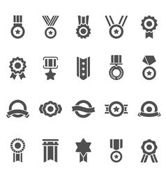 Badge Awards solid icons vector image