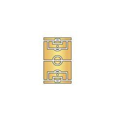 Football field computer symbol vector