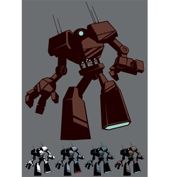 Giant robot isolated vector
