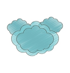 Drawing cloud climate weather vector