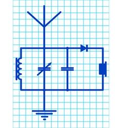 Detector receiver vector image