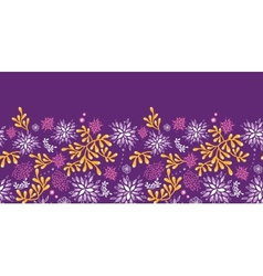 Purple and gold underwater plants horizontal vector