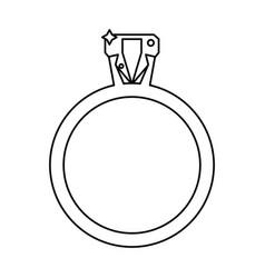 ring jewelry luxury wedding outline vector image