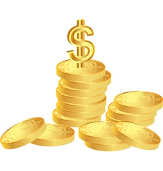 Coins with dollar vector