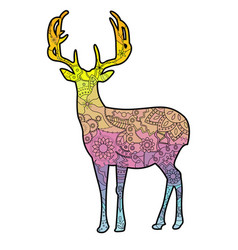 Deer with transition colors vector