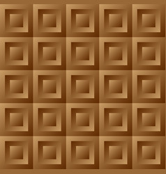 Abstract background brown tiles vector