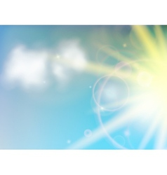 Sunny natural background vector image