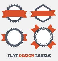 Flat design Labels vector image