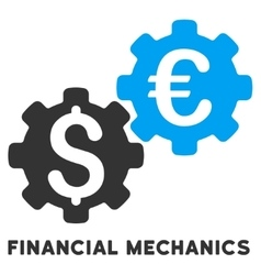 Financial mechanics icon with caption vector