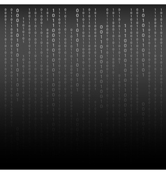 Black and white algorithm binary code with digits vector