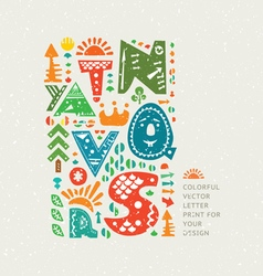 Cute letters vector