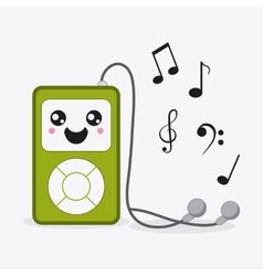 Mp3 icon kawaii and technology graphic vector