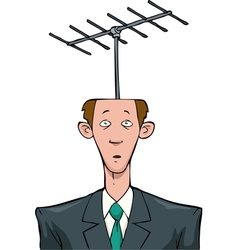 antenna on his head vector image