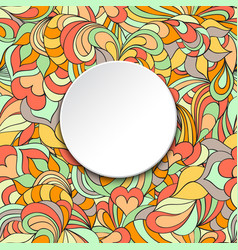 Card with abstract pattern and circle frame vector