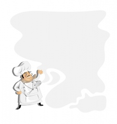 chef with copy space vector image vector image