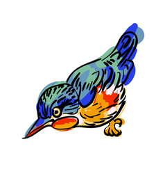 Drawing of the bird vector