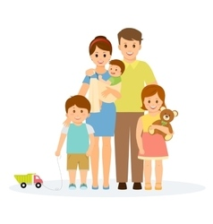Family portrait in flat style vector image vector image