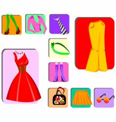 Fashion design elements vector
