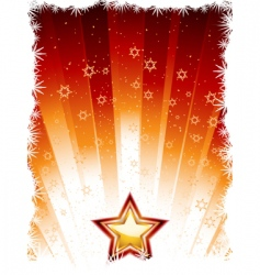 festive star vector image vector image