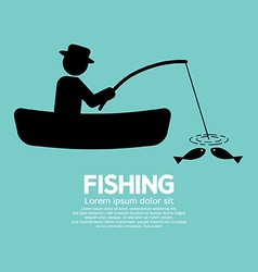 Fishing Graphic Sign vector image
