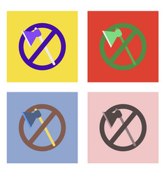 flat icon design collection no cutting vector image vector image