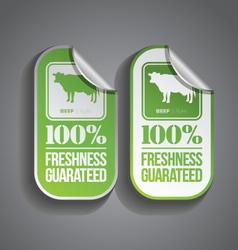 Food Sticker Beef vector image