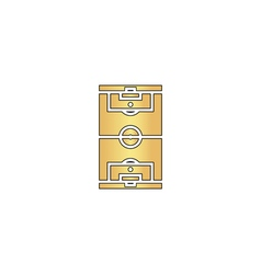 Football field computer symbol vector