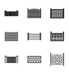 Gate icons set simple style vector