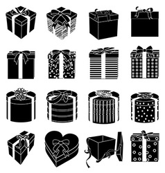 Gift boxes icons set vector image vector image