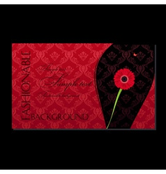 glamour fashion invitation card flower vector image vector image