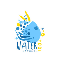 Hand drawn abstract signs of pure water for logo vector
