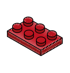 isometric block game piece vector image
