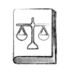 Justice book with scale vector