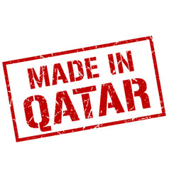 Made in qatar stamp vector