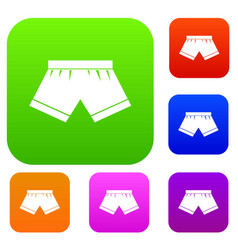 male underwear set color collection vector image